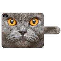 B2Ctelecom Apple iPhone 4   4S Uniek Ontworpen Design Hoesje Britse Kat
