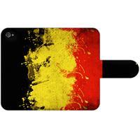 B2Ctelecom Apple iPhone 4/4S Uniek Ontworpen Boekhoesje Belgische Vlag