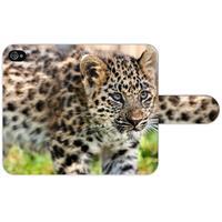 B2Ctelecom Apple iPhone 4   4S Uniek Ontworpen Design Hoesje Baby Luipaard