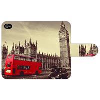 B2Ctelecom Apple iPhone 4/4S Uniek Ontworpen Boekhoesje London City