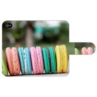 B2Ctelecom Apple iPhone 4/4S Uniek Ontworpen Boekhoesje Macarons