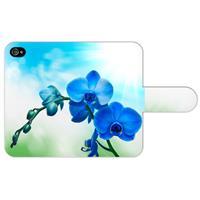 B2Ctelecom Apple iPhone 4/4S Uniek Ontworpen Boekhoesje Orchidee