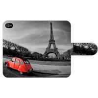 B2Ctelecom Apple iPhone 4/4S Uniek Ontworpen Boekhoesje Eiffeltoren