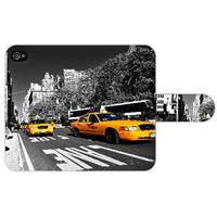 B2Ctelecom Apple iPhone 4/4S Uniek Ontworpen Boekhoesje New York Taxi