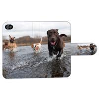 B2Ctelecom Apple iPhone 4   4S Ontworpen Bookstyle Hoesje Labrador Retrieve