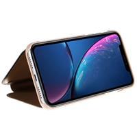 Luxury Series Mirror View iPhone XR Flip Cover - Goud