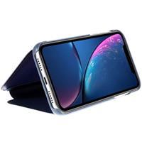 Luxury Series Mirror View iPhone XR Flip Cover - Blauw