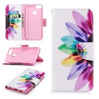 Huawei P Smart Wonder Series Wallet Case - Bloem