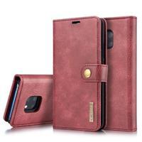 DG.Ming Huawei Mate 20 Pro Onzichtbare Wallet Leren Hoesje - Rood