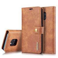 DG.Ming Huawei Mate 20 Pro Onzichtbare Wallet Leren Hoesje - Bruin