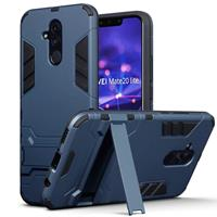 Qubits Double Armor Layer hoes met stand - Huawei Mate 20 Lite - blauw