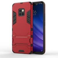 Lunso Double Armor Layer hoes met stand - Huawei Mate 20 Pro - Rood