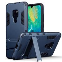 Qubits Double Armor Layer hoes met stand - Huawei Mate 20 - blauw