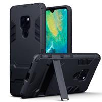 Qubits Double Armor Layer hoes met stand - Huawei Mate 20 - zwart