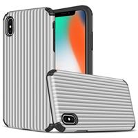 Suitcase Series iPhone XS Max Hybrid Case - Zilver