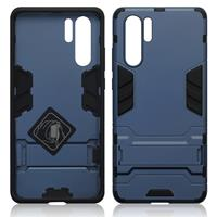 Qubits Double Armor Layer hoes met stand - Huawei P30 Pro - Blauw