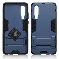 Qubits Double Armor Layer hoes met stand - Huawei P30 - Blauw