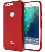 Goospery Google Pixel XL - Siliconen I-Jelly TPU hoes Rood