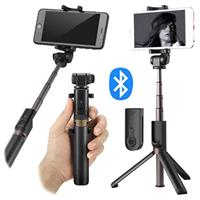 Universal 3-in-1 Bluetooth Selfie Stick met Tripod - Zwart
