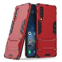 Armor Series Huawei P30 Hybrid Case met Standaard - Rood