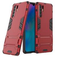 Armor Series Huawei P30 Pro Hybrid Case met Standaard - Rood
