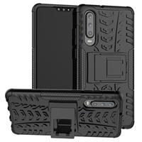 Anti-Slip Huawei P30 Hybrid Case - Zwart