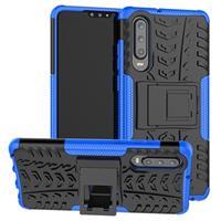 Anti-Slip Huawei P30 Hybrid Case - Blauw / Zwart