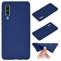 Huawei P30 Siliconen Hoesje - Flexibel En Mat - Blauw