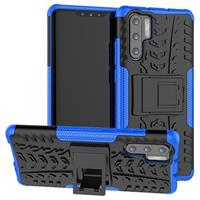 Huawei P30 Pro Anti-Slip Hybrid Case met Standaard - Blauw / Zwart