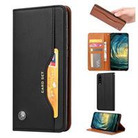 Card Set Series Huawei P30 Wallet Case - Zwart
