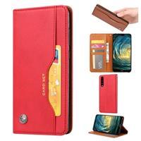 Card Set Series Huawei P30 Wallet Case - Rood