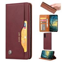 Card Set Series Huawei P30 Wallet Case - Wijnrood