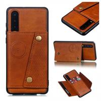 Cardholder Series Huawei P30 Magnetisch Cover - Bruin