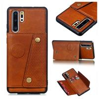 Cardholder Series Huawei P30 Pro Magnetisch Cover - Bruin