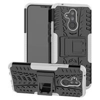 Anti-Slip Huawei Mate 20 Lite Hybrid Case - Wit / Zwart
