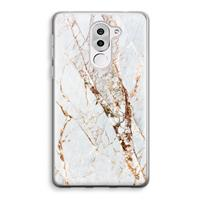 Honor 6X Transparant Hoesje (Soft) - Goud marmer