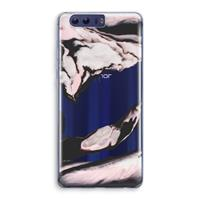 Honor 9 Transparant Hoesje (Soft) - Roze stroom