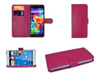 HTC Luxe Book Wallet Case voor  One a9s hot pink