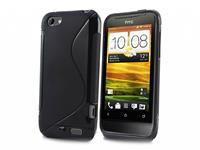 HTC One v · Soft Skin Case · Siliconen Hoesje zwart