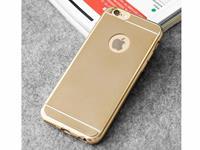 Apple Flexibele Soft Case voor de  Iphone 5, Mat Goud goud