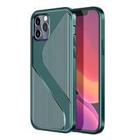 S-Shape iPhone 12 Pro Max TPU Hoesje - Groen