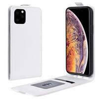 iPhone 11 Pro Max Verticale Flip Hoesje met Creditcardvak - Wit