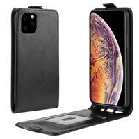 iPhone 11 Pro Max Verticale Flip Hoesje met Creditcardvak - Zwart