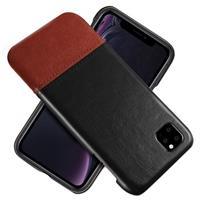 KSQ Bi-Color Series iPhone 11 Pro Cover - Zwart / Donkerbruin