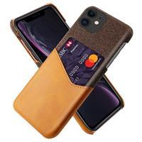 KSQ iPhone 11 Cover met Kaarthouder - Coffee