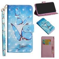 Wonder Series iPhone 12 Pro Max Portemonnee Hoesje - Blauwe Vlinder