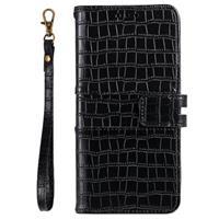 Krokodil Series iPhone 11 Pro Wallet Case - Zwart