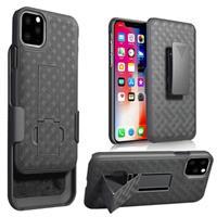 iPhone 11 Hybrid Case met Riemclip - Zwart
