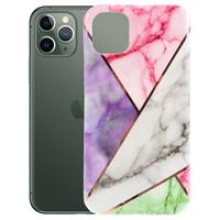 Marble Series iPhone 11 Pro Max TPU Case - Roze / Paars