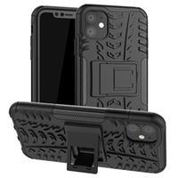 Anti-Slip iPhone 11 Hybrid Case met Standaard - Zwart